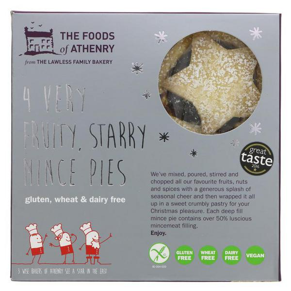 Foods Of Athenry Very Fruity Starry Mince Pies Gluten Free, Vegan