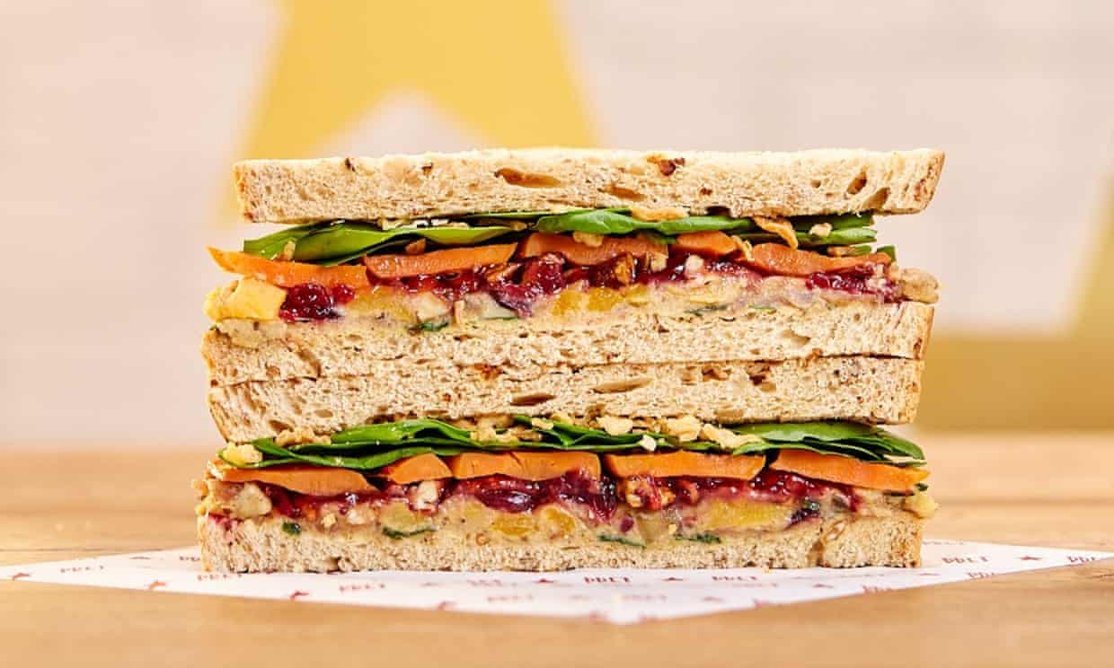 Pret vegan christmas sandwich