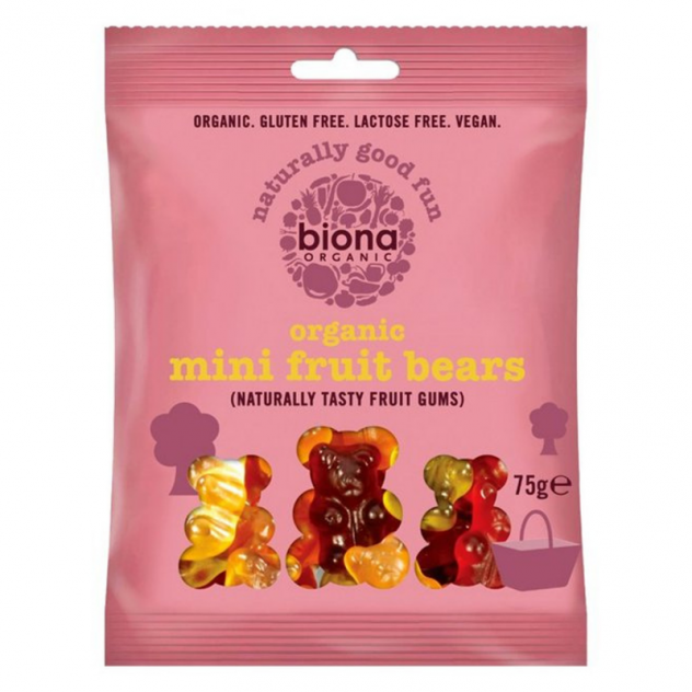 Biona Organic Mini Fruit Bears, Ocado