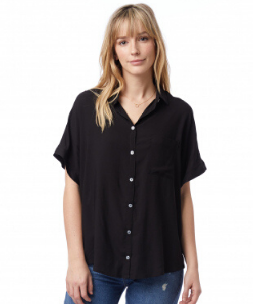 Rayon Challis Button Down